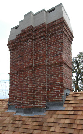 chimney completed at House of Seven Gables
